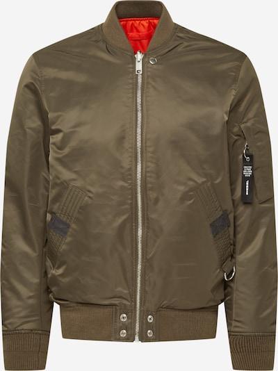 DIESEL Prijelazna jakna 'ROSS' u svijetlosiva / kaki, Pregled proizvoda