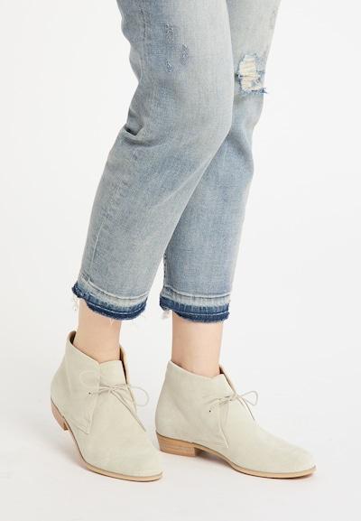 DreiMaster Vintage Schnürstiefeletten in weiß: Frontalansicht