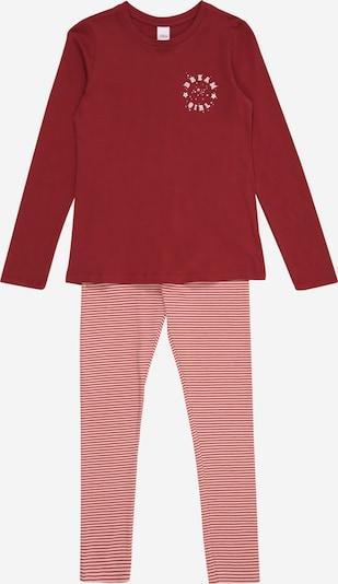 s.Oliver Pyjama en rose / rosé / lie de vin / blanc, Vue avec produit