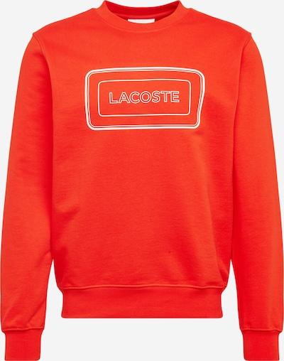 LACOSTE Sweatshirt in de kleur Oranjerood / Wit, Productweergave