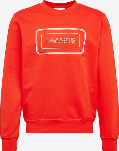 LACOSTE Sweatshirt i orangerød / hvid, Produktvisning