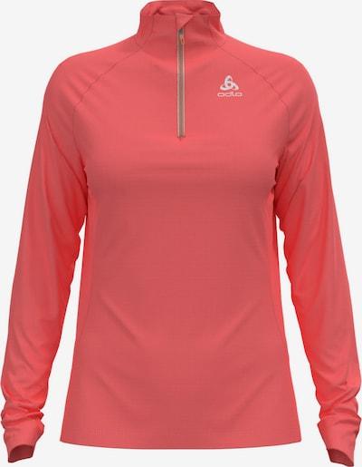 ODLO Sportsweatshirt in koralle / weiß, Produktansicht