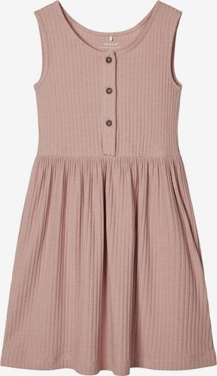 NAME IT Knopfleisten Rippen Kleid in altrosa, Produktansicht