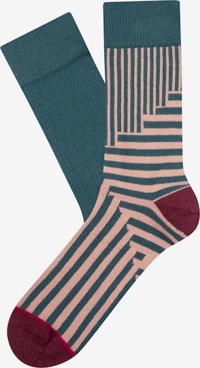 CHEERIO* Socken 'Jolly' in pastellblau / himbeer / altrosa / weinrot, Produktansicht