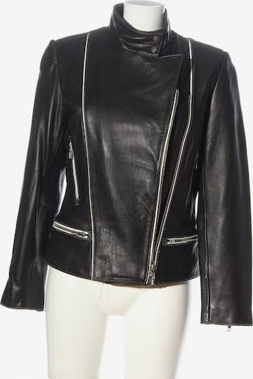 HIRSCH Lederjacke in M in schwarz / weiß, Produktansicht
