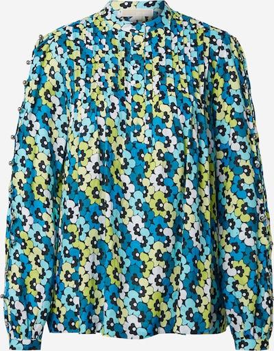 MICHAEL Michael Kors Bluzka w kolorze królewski błękit / jasnoniebieski / jasnożółty / limonka / białym, Podgląd produktu