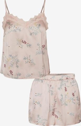 VERO MODA Pyjama 'SILLE' in Pink