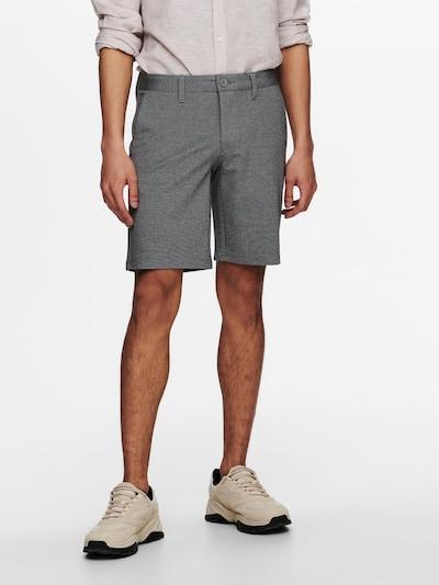 Only & Sons Chino kalhoty 'Mark' - šedý melír, Model/ka