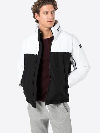 Champion Authentic Athletic Apparel Chaqueta de invierno en negro / blanco: Vista frontal