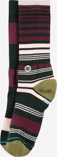 Stance Chaussettes de sport 'SUITED' en kaki / rose clair / rouge rubis / noir / blanc, Vue avec produit