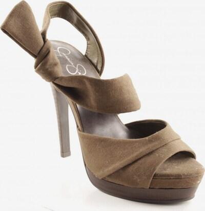 JESSICA SIMPSON High Heel Sandaletten in 39 in dunkelbraun / oliv: Frontalansicht