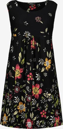 Ulla Popken Kleid in grasgrün / pink / weiß, Produktansicht