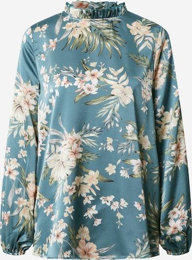 AX Paris Bluse in beige / blau / grün, Produktansicht