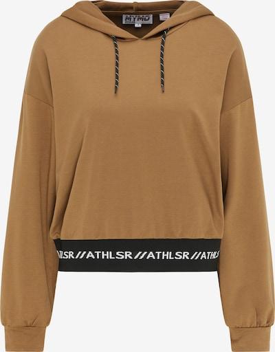 myMo ATHLSR Sportsweatshirt in braun / schwarz / weiß, Produktansicht