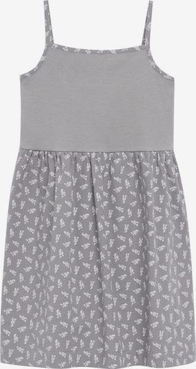 MANGO KIDS Kleid 'Campi' in grau / weiß, Produktansicht