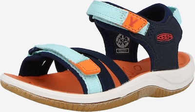 KEEN Sandale 'Verano' en türkis / nachtblau / orange / schwarz, Vue avec produit