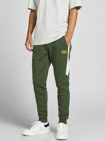 Pantalon 'Will Poula' JACK & JONES en vert