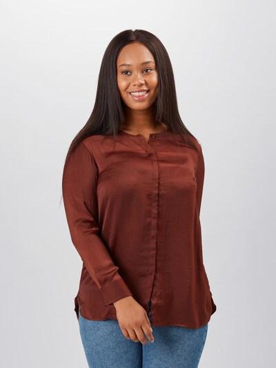 TRIANGLE Bluse in rostbraun, Modelansicht