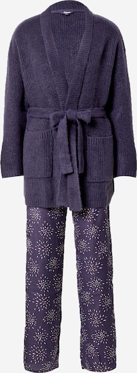 ETAM Pyjama 'HELEN' in indigo / hellpink / weiß, Produktansicht