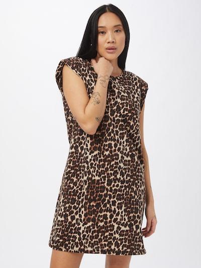 ONLY Kleid in beige / braun / schwarz, Modelansicht