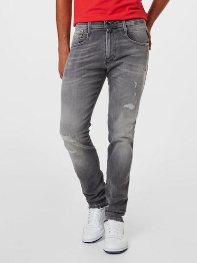 REPLAY Jeans 'ANBASS' in de kleur Grey denim, Modelweergave