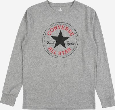 CONVERSE T-Shirt en gris chiné / rouge / noir, Vue avec produit