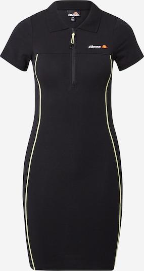 ELLESSE Robe 'Lara' en citron vert / noir / blanc, Vue avec produit