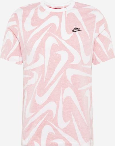 Nike Sportswear Shirt in rosa / weiß: Frontalansicht