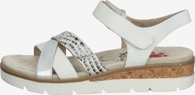 Relife Sandale 'Jubroie' in creme / kastanienbraun / silbergrau / weiß, Produktansicht
