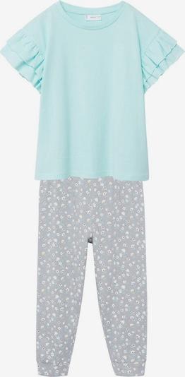 MANGO KIDS Schlafanzug 'Carla' in braun / grau / mint / weiß, Produktansicht