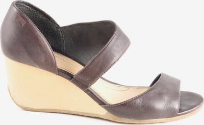 CAMPER Wedges Sandaletten in 40 in creme / braun, Produktansicht