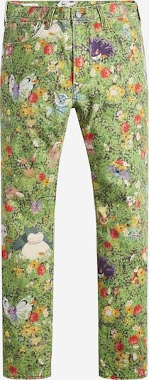 LEVI'S Jeans ' Pokemon' in de kleur Turquoise / Hemelsblauw / Groen / Grasgroen / Mauve / Braam / Sinaasappel / Rosé / Lichtrood, Productweergave