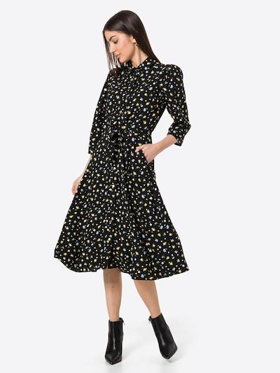 Dorothy Perkins Kleid in hellblau / gelb / oliv / schwarz, Modelansicht