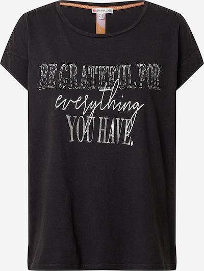 STREET ONE T-shirt en gris foncé / argent / blanc, Vue avec produit