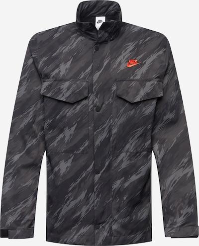 Nike Sportswear Tussenjas in de kleur Grijs / Donkergrijs / Lichtoranje / Zwart, Productweergave