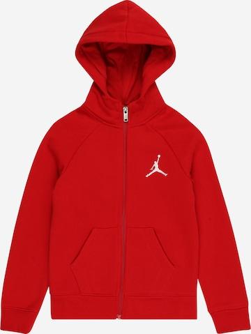 Veste de survêtement Jordan en rouge