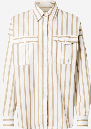 BOSS Casual Bluse 'C_Beruno' in sand / weiß, Produktansicht