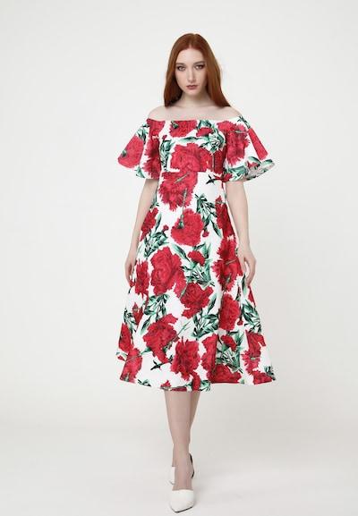 Madam-T Sommerkleid 'JOVANA' in rot / weiß, Modelansicht