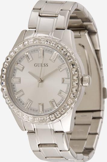 GUESS Analogni sat u srebro / bijela, Pregled proizvoda