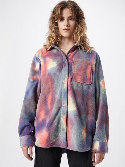 WEEKDAY Bluse 'Bess' in pastellgelb / lila / violettblau / dunkellila / melone, Modelansicht