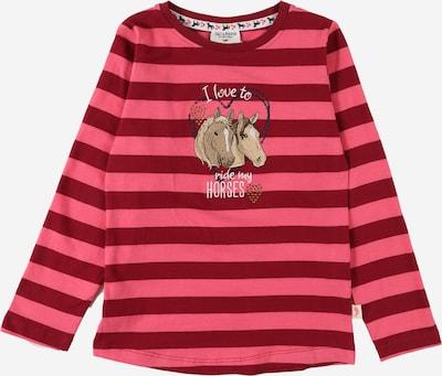 SALT AND PEPPER T-Shirt en marron / pitaya / violet rouge, Vue avec produit