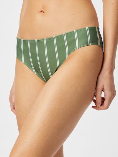 ROXY Bas de bikini en vert / blanc: Vue de face