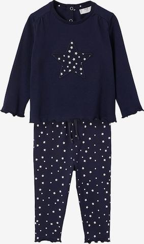 MANGO KIDS Pyjama 'Estelab' in Blau