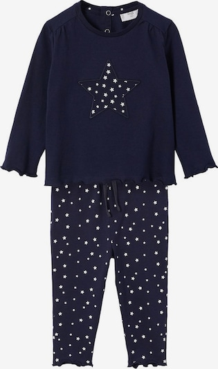 MANGO KIDS Pyjama 'Estelab' in blau / weiß, Produktansicht