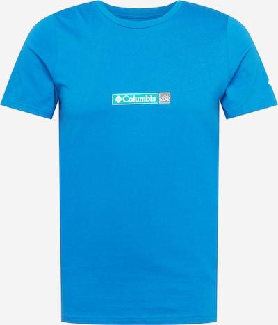 Tricou funcțional COLUMBIA pe turcoaz / albastru neon / gri, Vizualizare produs
