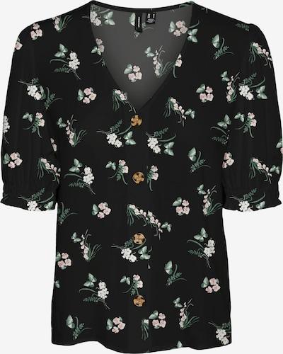 VERO MODA Bluse 'Simply' in grün / schwarz / weiß, Produktansicht