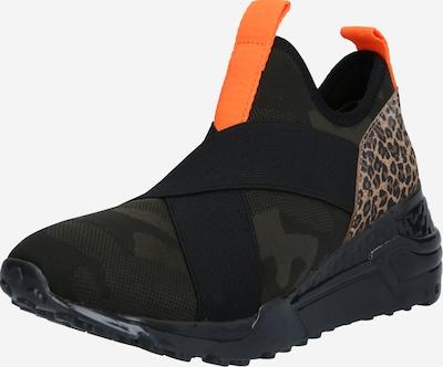 STEVE MADDEN Sneaker ' TANKER' in creme / braun / kastanienbraun / grün / dunkelgrün, Produktansicht