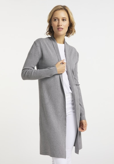 usha BLUE LABEL Strickjacke in grau, Modelansicht