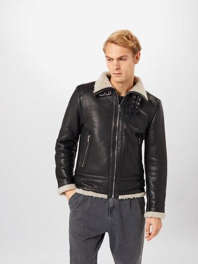 Žieminė striukė 'Austin' iš BE EDGY , spalva - juoda / balkšva: Vaizdas iš priekio