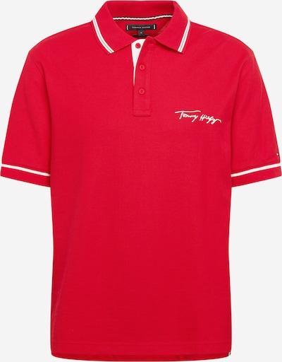TOMMY HILFIGER Poloshirt in rot / weiß, Produktansicht